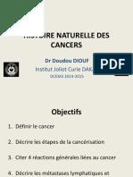 HISTOIRE NATURELLE DES CANCERS