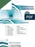 University if IWOA Leadership style