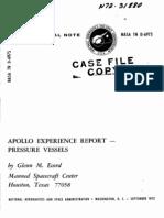 Apollo Experience Report Pressure Vessels