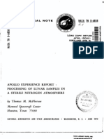 Apollo Experience Report Processing of Lunar Samples in a Sterile Nitrogen Atmosphere