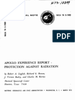 Apollo Experience Report Protection Against Radiation
