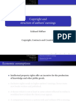 Copyright and structure of authors' earnings