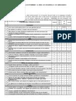 Tabulación de Encuesta de  Habilidades Sociales - Aplicable a la Asignatura