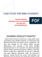 CASE STUDY FOR MBA HR STUDENTS