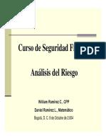 Análisis y evaluación de riesgos- ASIS ECUADOR