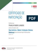 Diesel eletrônico - Módulo I Introdução à Sistemas Eletrônicos_Certificado