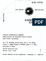 Apollo Experience Report Simulation of Manned Space Flight for Crew Training