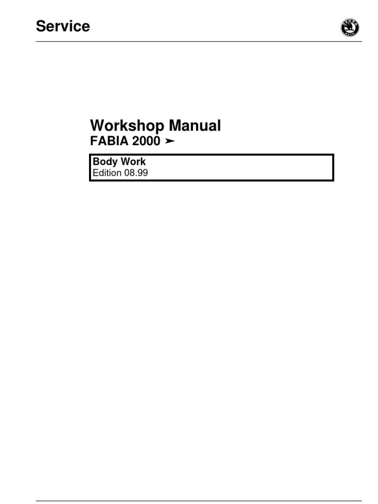 skoda fabia workshop manual trunk car airbag rh scribd com Peugeot 207 Manual Isuzu NPR Manual
