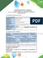 Guía de actividades y rubrica evaluación - Actividad 5 - Evaluación final
