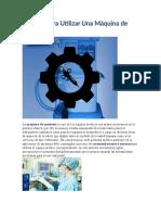 mantenimiento preventivo de la Máquina de Anestesia