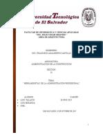 HERRAMIENTAS ( CENTRO ESCOLAR)
