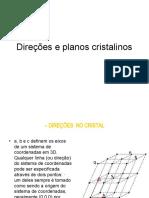Direções e planos cristalinos - defeitos cristalinos nos cristais.ppt