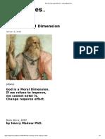 God is a Moral Dimension - henrymakow.com