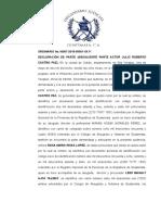 16. DECLARACION DE PARTE DEMANDADA