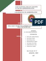 MARCO TEORICO EN LA FORMULACION Y PLANTEAMIENTO DE PROBLEMAS QUE SON ESTRICTAMENTE DEL SECTOR PUBLICO