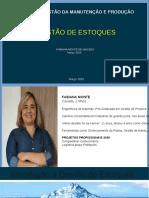 GESTÃ_O DE ESTOQUES SOBRESSALENTES