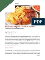 La Historia del Pollo a La Brasas Peruano.