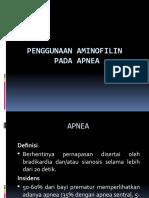 Penggunaan Aminofilin Pada Apnu