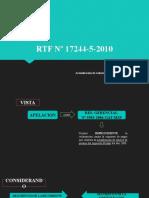 RTF Nº 17244-5-2010