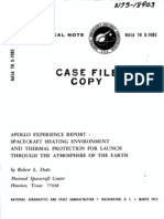 Apollo Experience Report Spacecraft Heating Environment and Thermal Protection for Launch Through the Atmosphere of the Earth