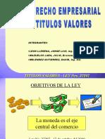 COMERCIAL I - TITULOS_VALORES