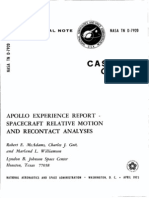 Apollo Experience Report Spacecraft Relative Motion and Recontact Analyses