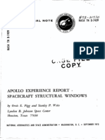 Apollo Experience Report Spacecraft Structural Windows