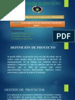 Gerencia de proyectos en el perú
