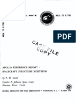 Apollo Experience Report Spacecraft Structure Subsystem