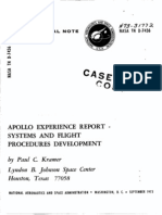Apollo Experience Report Systems and Flight Procedures Development