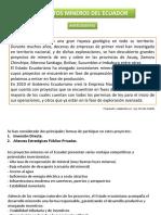 Proyectos Mineros Ecuador