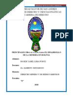 PRINCIPALES OBSTÁCULOS PARA EL DESARROLLO DE LA MINERIA EN BOLIVIA