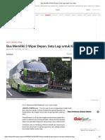 Bus Memiliki 3 Wiper Depan, Satu Lagi Untuk Kaca Atas