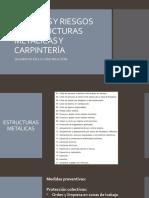 PELIGROS Y RIESGOS EN ESTRUCTURAS METÁLICAS Y CARPINTERÍA