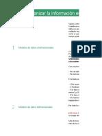 Cómo organizar la información en hojas de cálculo NOTAS
