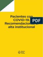 Alta Institucional Covid-19