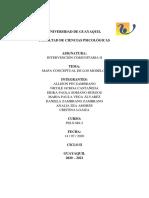 Mapa de modelos INTERVENCIÓN COMUNITARIA