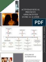 ACTIVIDAD SEXUAL PRECOZ EN ADOLESCENTES ENTRE 14- 16