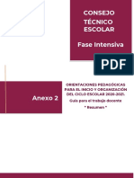 ORIENTACIONES PEDAGOGICAS PARA EL INICIO Y ORGANIZACION DEL CICLO ESCOLAR 2020-2021
