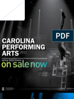 Spring 2011 Carolina Performing Arts Brochure