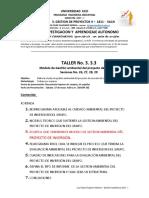 3) 3.23 TALLER  3.2.3   EVALUACION  AMBIENTAL DE LOS PROYECTOS DE INVERSION