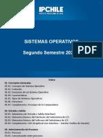 1 Sistemas operativos Que son  Semestre II