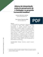 problema da interpretaçãohumanista do pensamento deMartin Heidegger na geografiahumanista brasileira.pdf