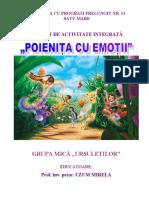 Proiect Poienița cu emoții Grad I