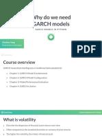 GARCH Models in Python 1