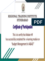 Certificate for Madan HR for _Check your awareness on Payscale