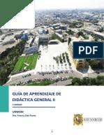 GUÍA  DE APRENDIZAJE N°1 DE DIDÁCTICA GENERAL II