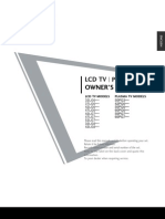 LG Plasma LCD Tv Manual