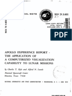 Apollo Experience Report the Application of a Computerized Visualization Capability to Lunar Missions