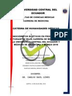 Bioética en Ecuador_Monografía
